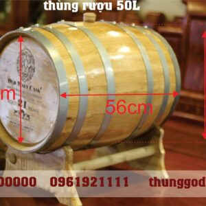 Thùng rượu gỗ sồi 50L